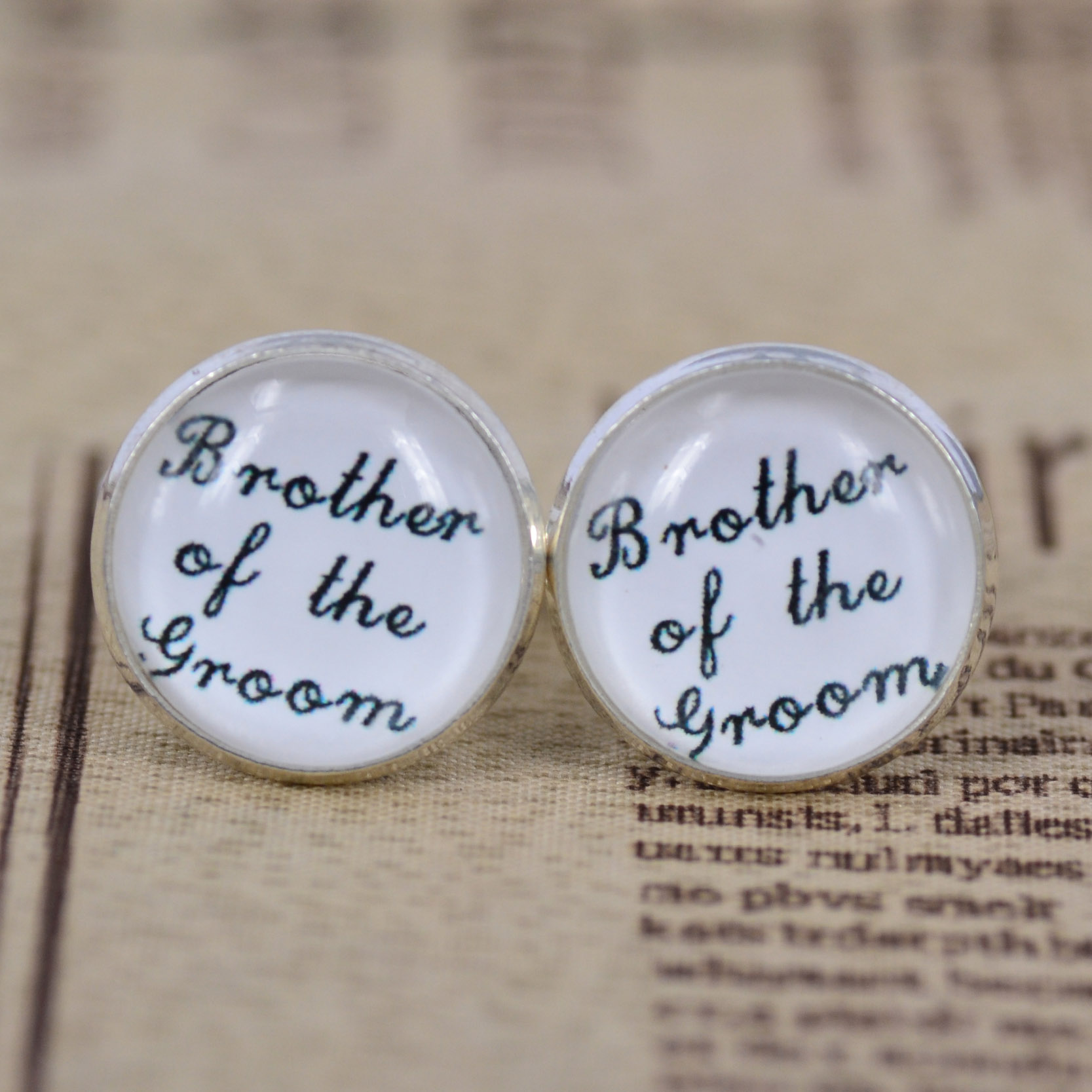 Special Wedding Gift For Brother : ... Brother of the groom Groomsmen Cufflinks Great Groomsmen Wedding Gift